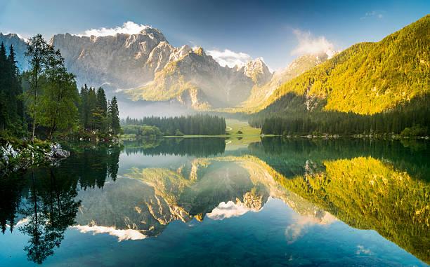 laghi di fusine-mountain lake in the Italian Alps