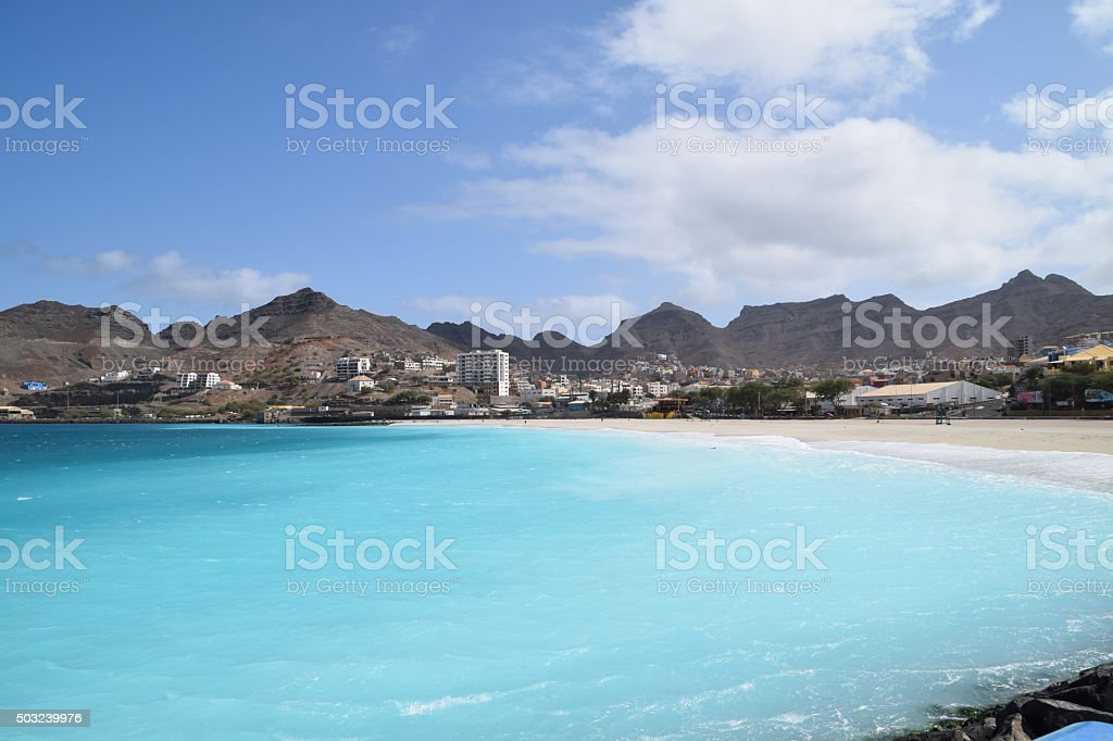 Laginha bay stock photo