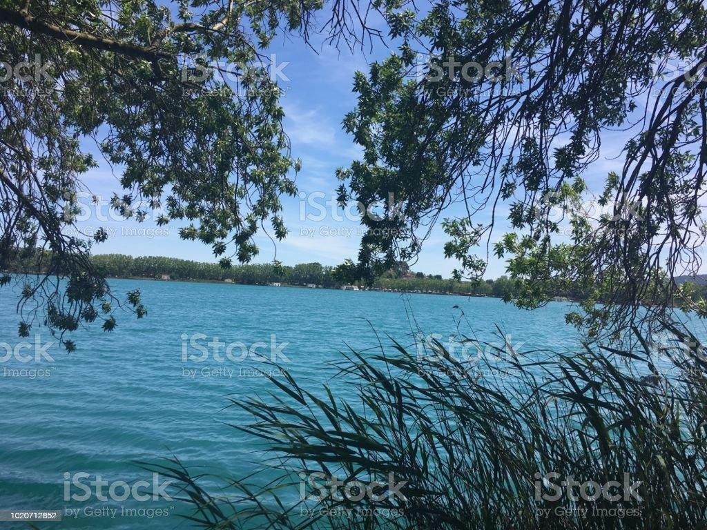 Banos Lago.Lago Azul Banoles Natureza Catalunha Stock Photo Download