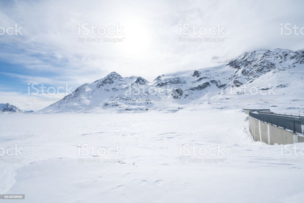 Lago Bianco, Switzerland stock photo