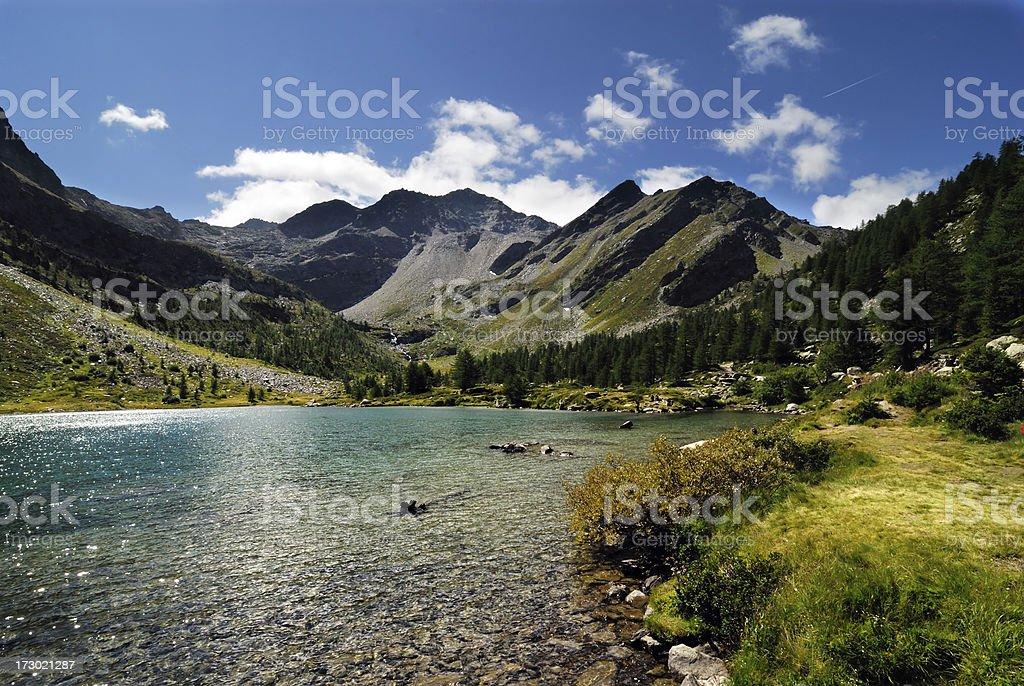 lago d'Arpy stock photo