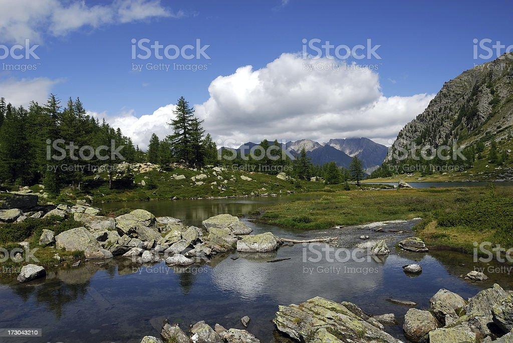 lago d'Arpy royalty-free stock photo