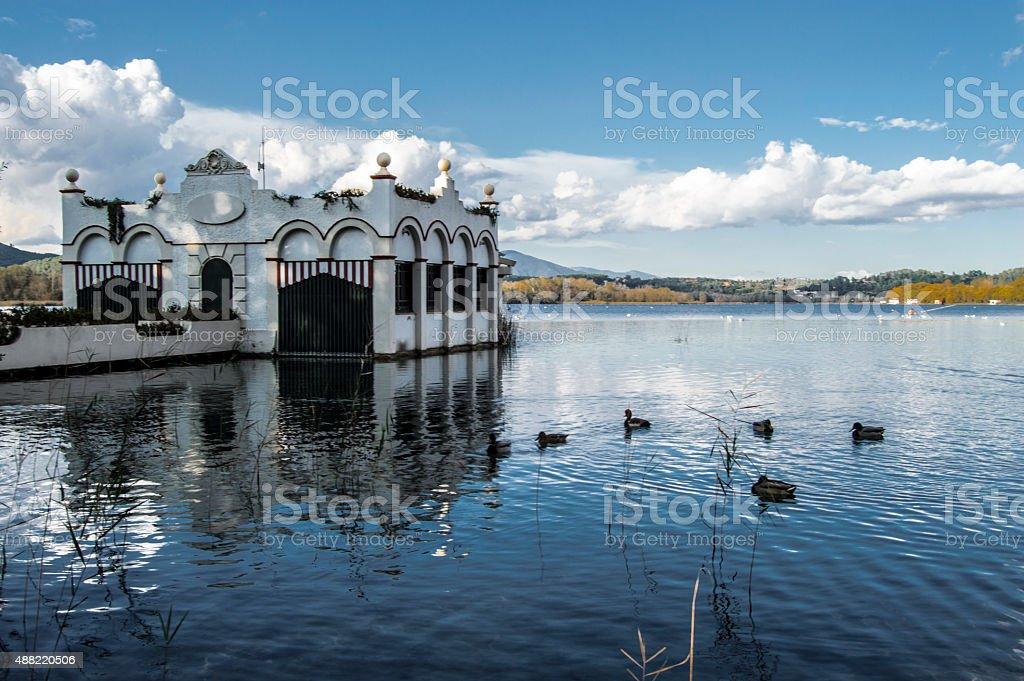 Lago de Banyoles stock photo