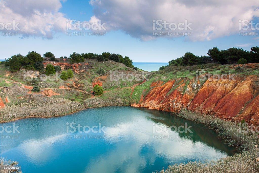 Lago di Bauxite a Otranto (Lecce) stock photo