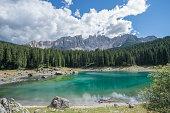 Lago di Carezza, Alto Adige, Italia