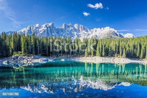 istock Lago di Carezza in Springtime 937490786