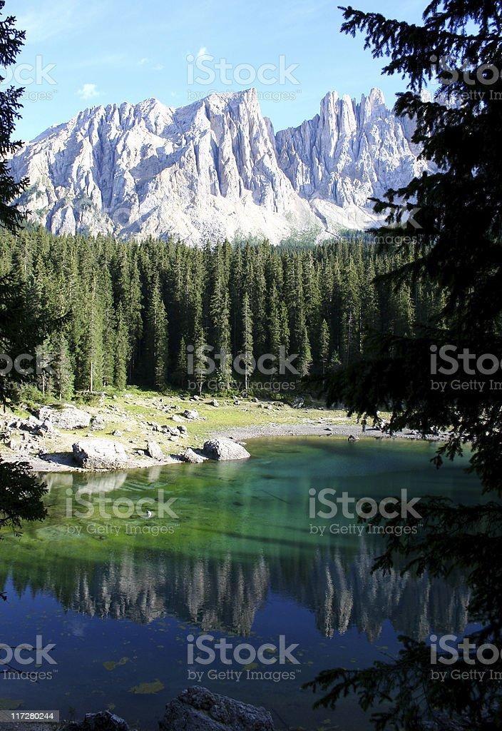 Lago di Carezza royalty-free stock photo