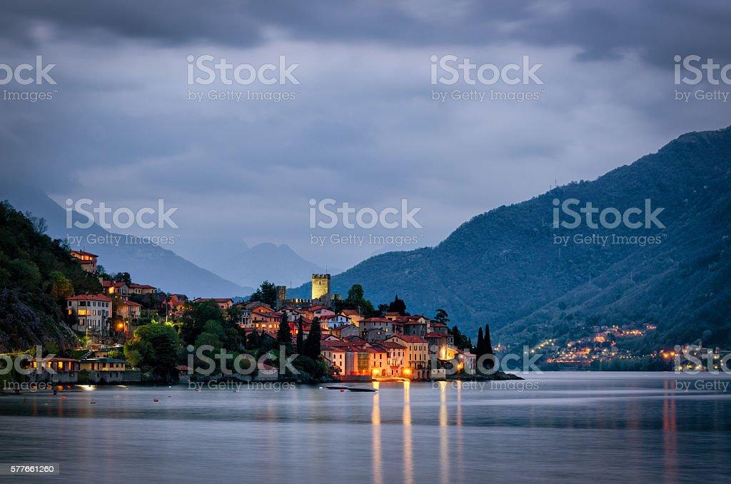 Lago di Como (Lake Como) Rezzonico stock photo