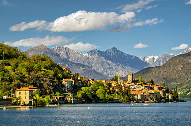 lago di como (lake como) rezzonico1 - lake como stock photos and pictures