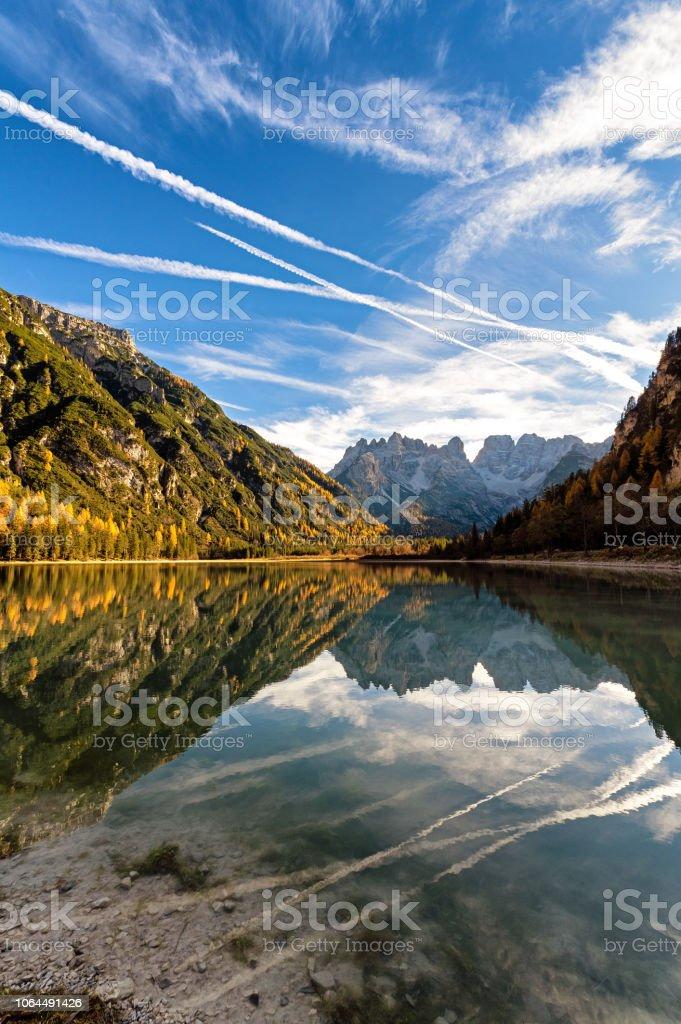Lago di Landro stock photo