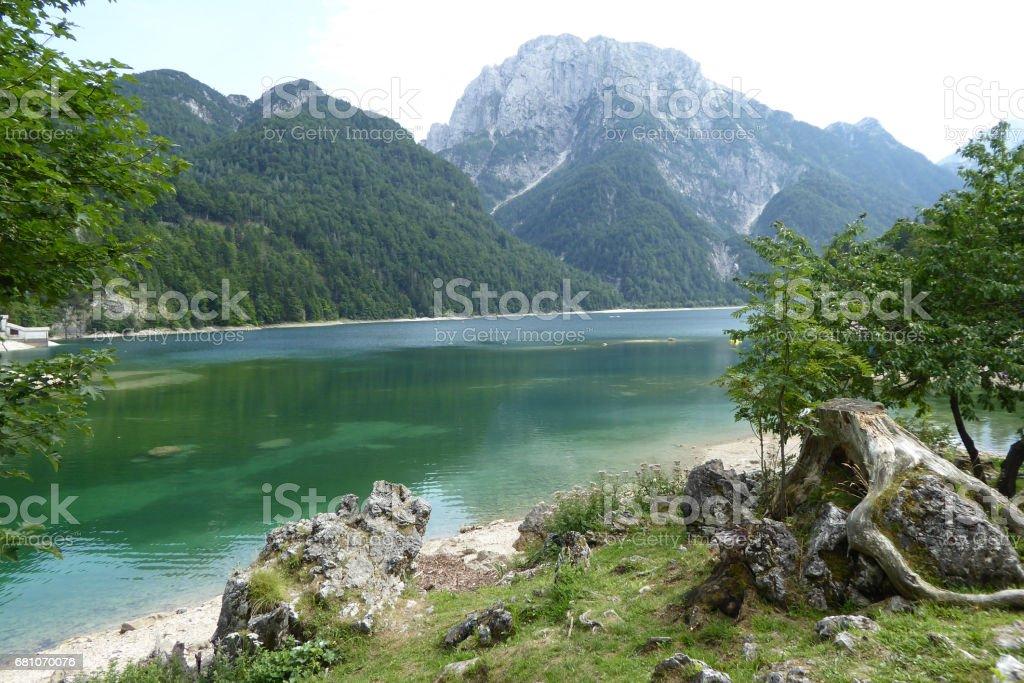 Lago di Predil, Italien royalty-free stock photo
