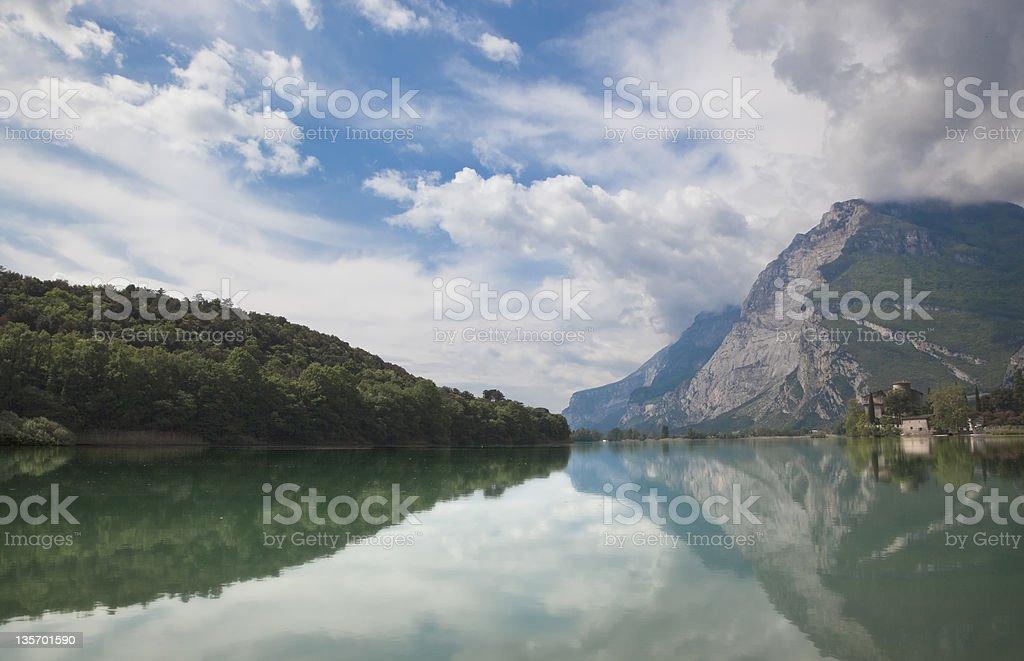 Lago di Toblino royalty-free stock photo
