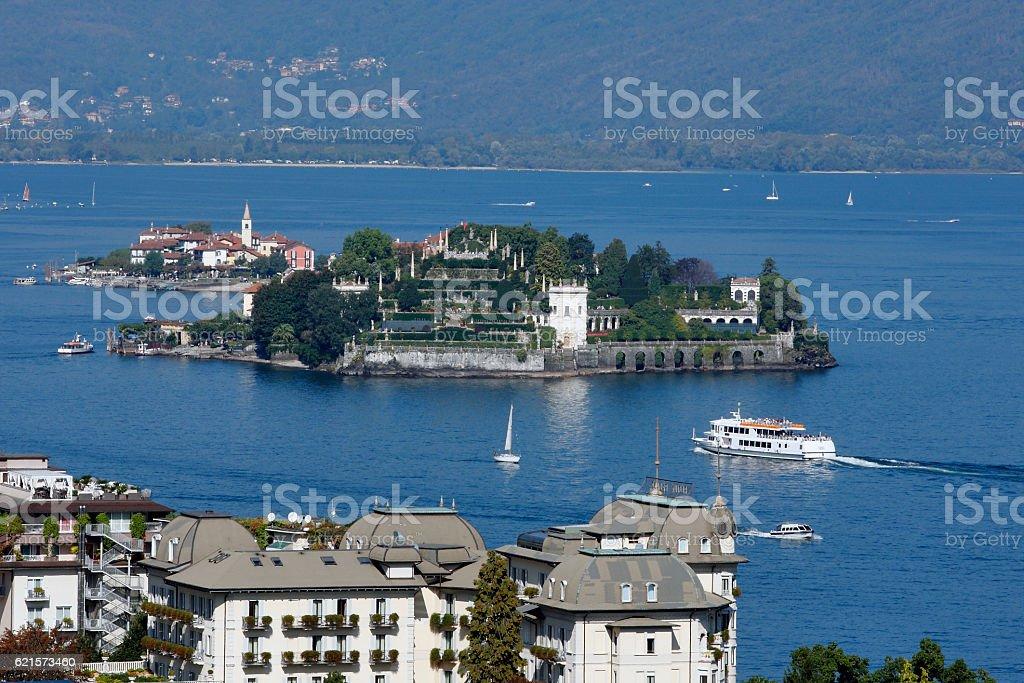 Lago Maggiore, Italy - View on the Borromean Islands photo libre de droits
