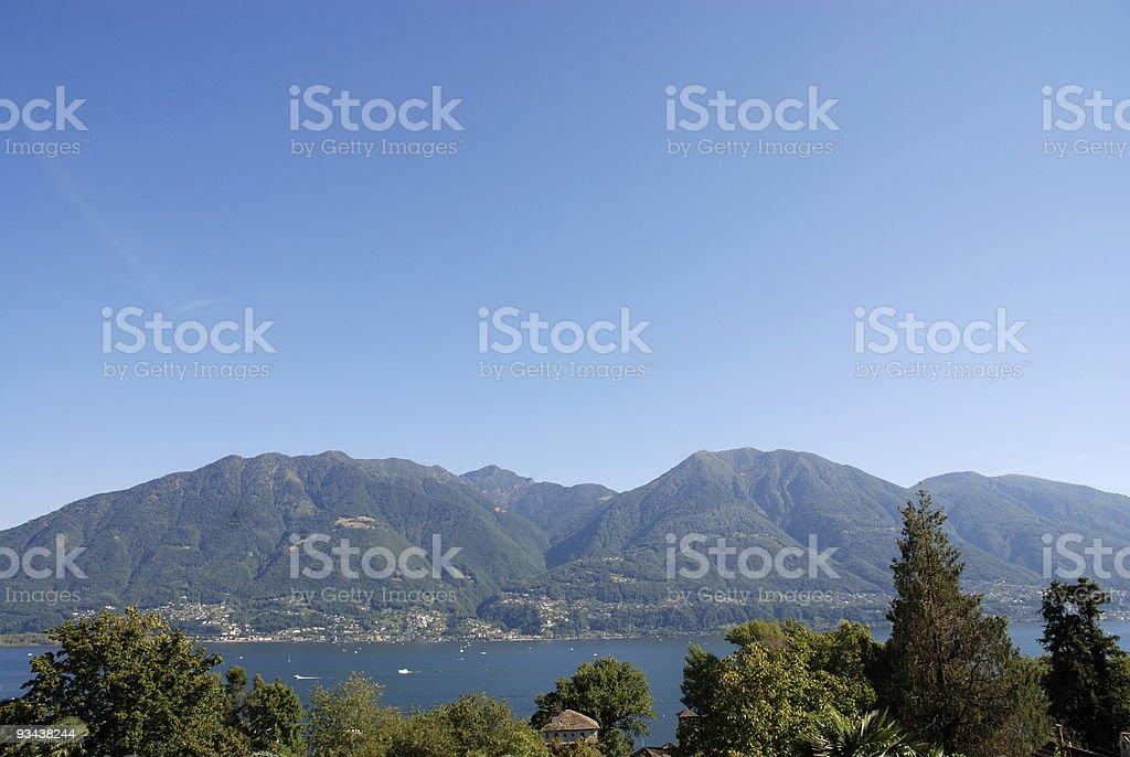Lago Maggiore, Schweiz Lizenzfreies stock-foto