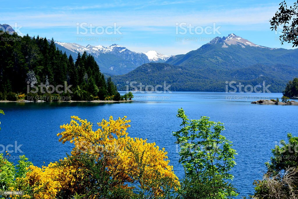 Lago Nahuel Huapi stock photo