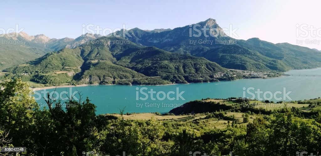 lago Serre Poncon stock photo