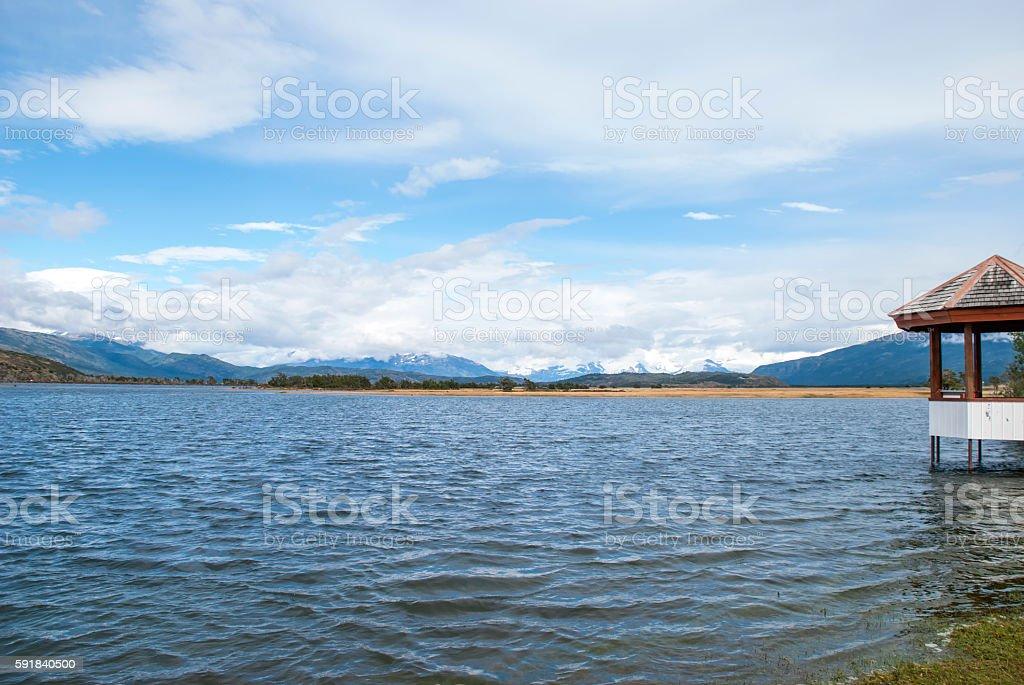 Lago Toro (Bull lake) view stock photo
