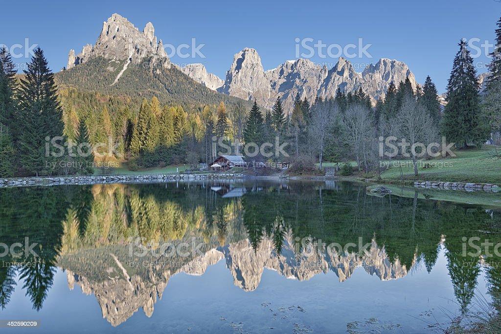 Lago Welsperg stock photo