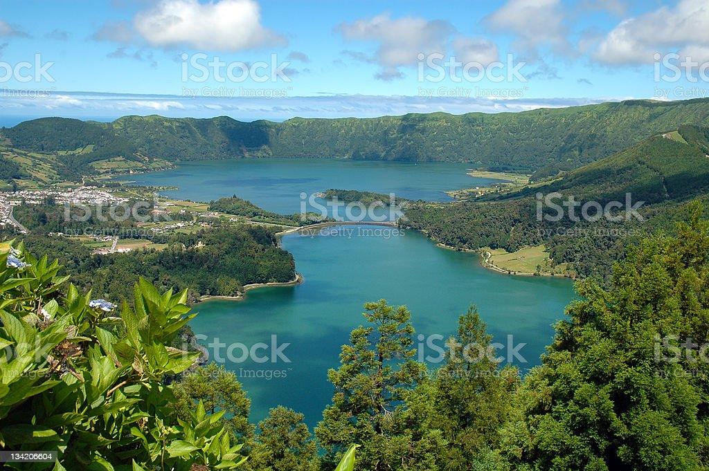 Lagoa das Sete Cidades, Azores, portugal stock photo