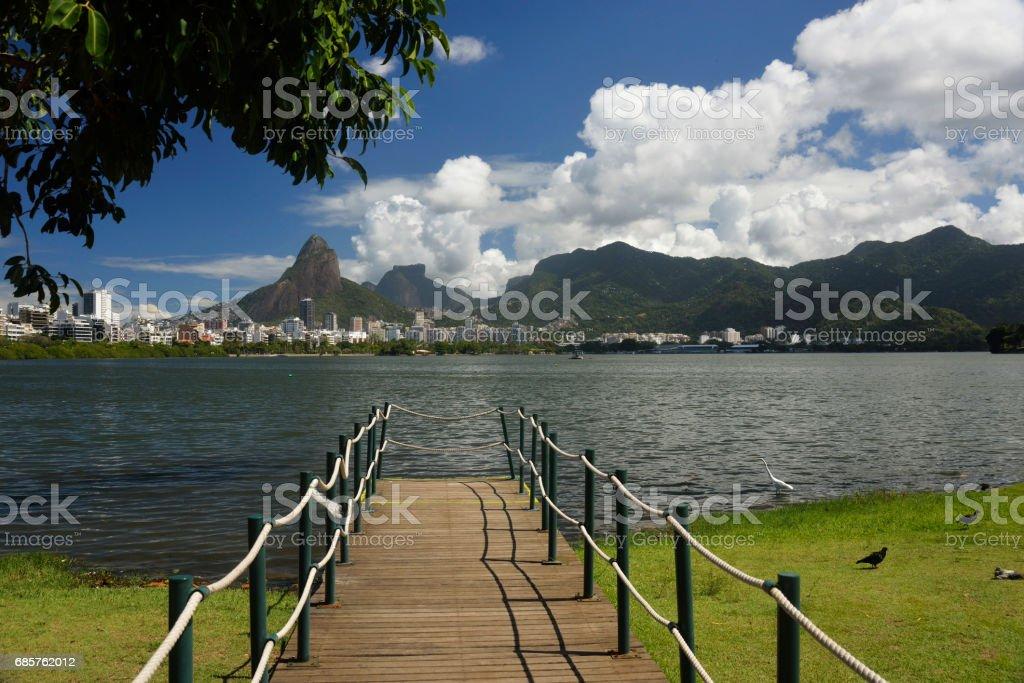 Lagoa / Dois Irmãos / Pedra da Gávea zbiór zdjęć royalty-free