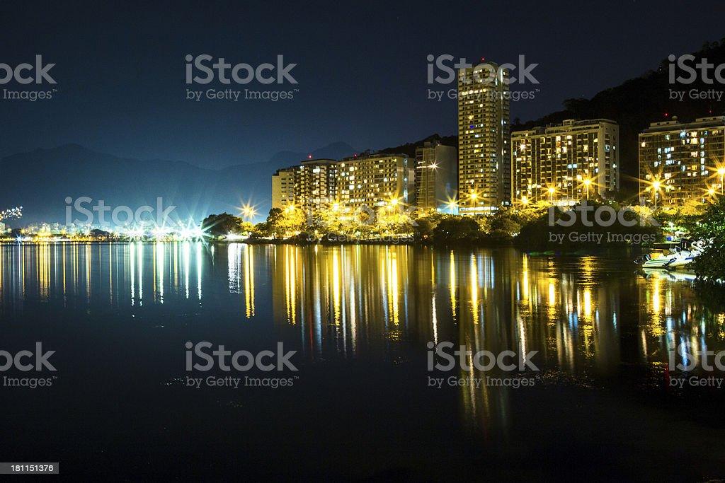 Lagoa Rodrigo de Freitas royalty-free stock photo
