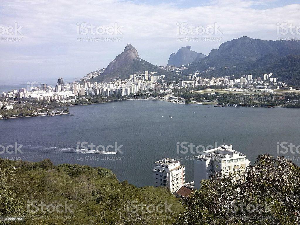 Lagoa Rodrigo de Freitas, Rio de Janeiro, Brazil stock photo