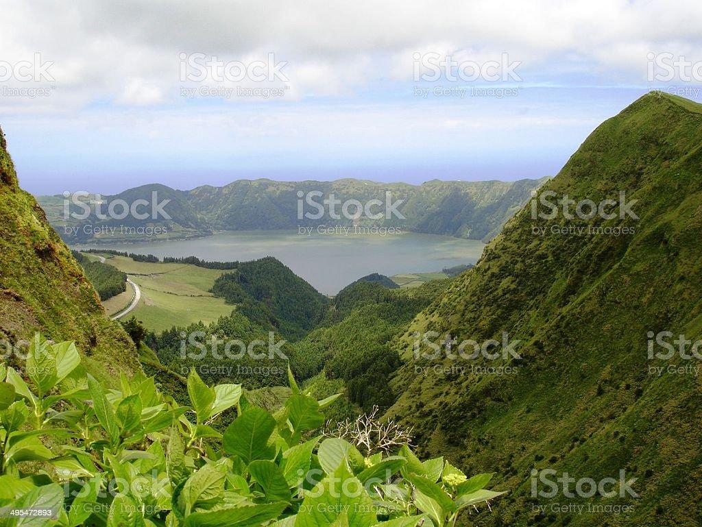 Lagoas de sao miguel stock photo