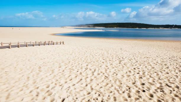 lagoon and beach - setubal imagens e fotografias de stock