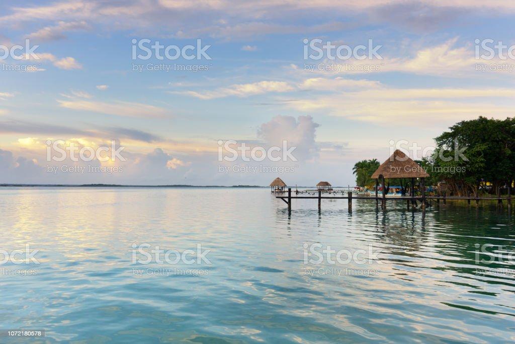 Laguna de Bacalar, México - foto de stock