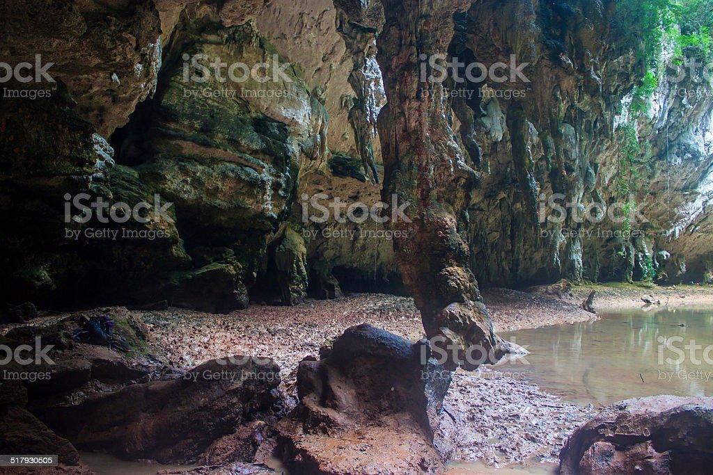 Lagoon at Railay stock photo