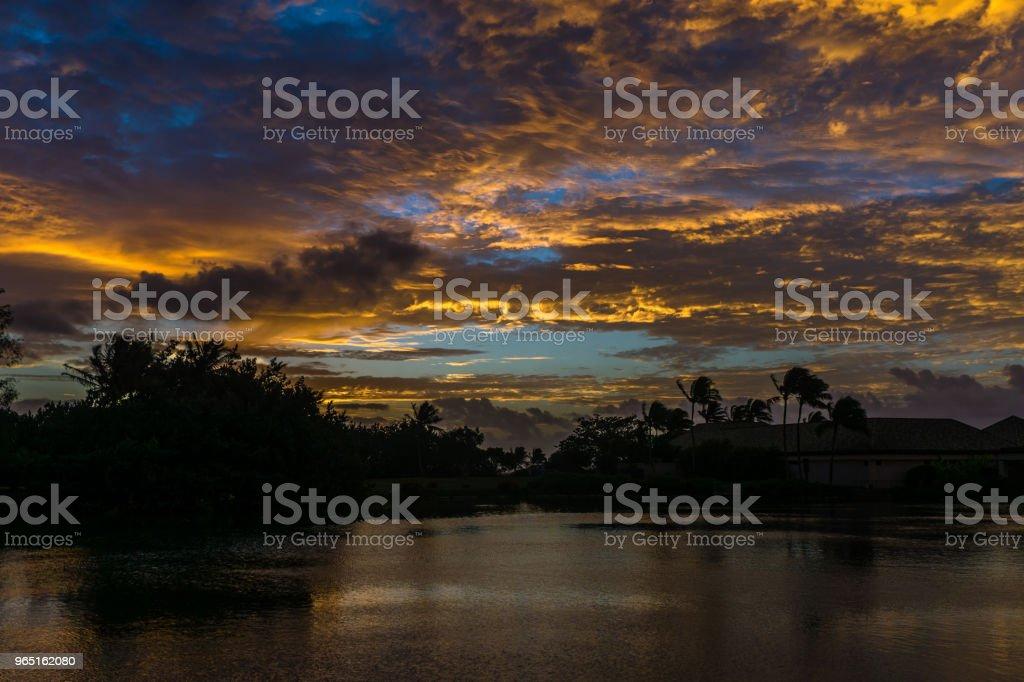 Lagoon Dawn royalty-free stock photo