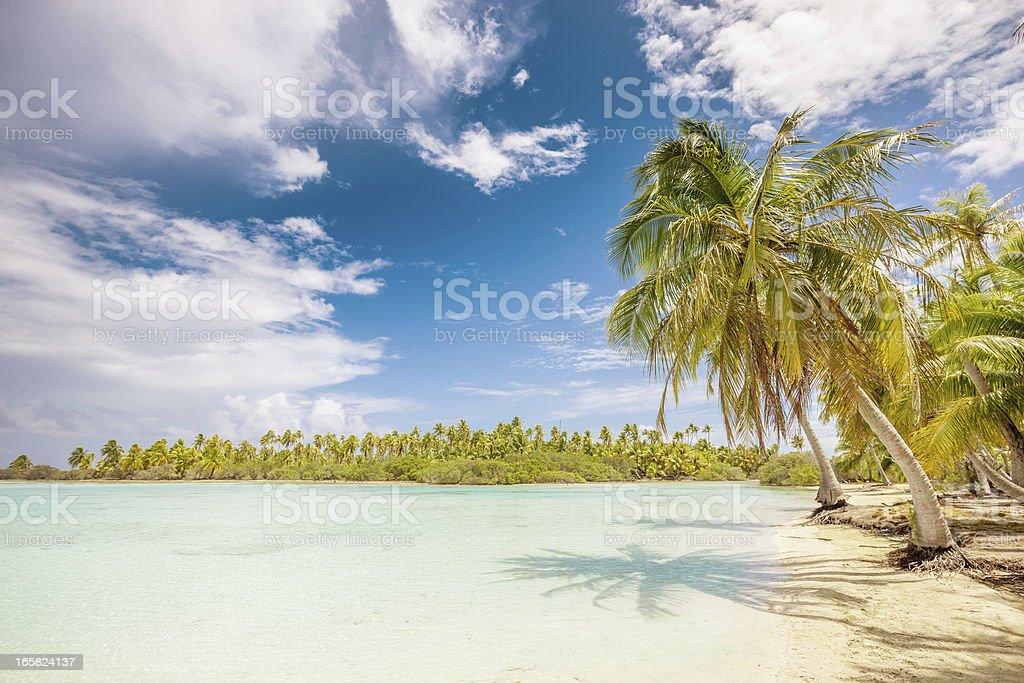 Lagoon French Polynesia,Fakarava Tuamotu Archipelago royalty-free stock photo