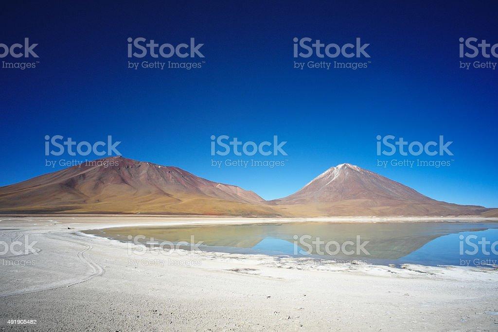 Lagoon in Bolívia stock photo