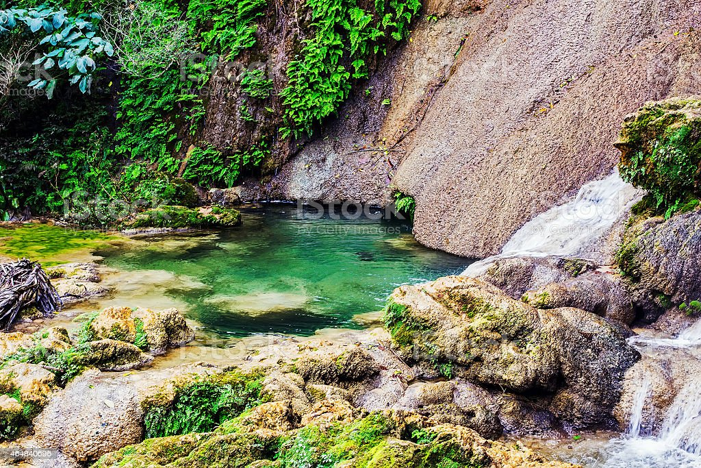 Lagoon in El Nicho National park stock photo