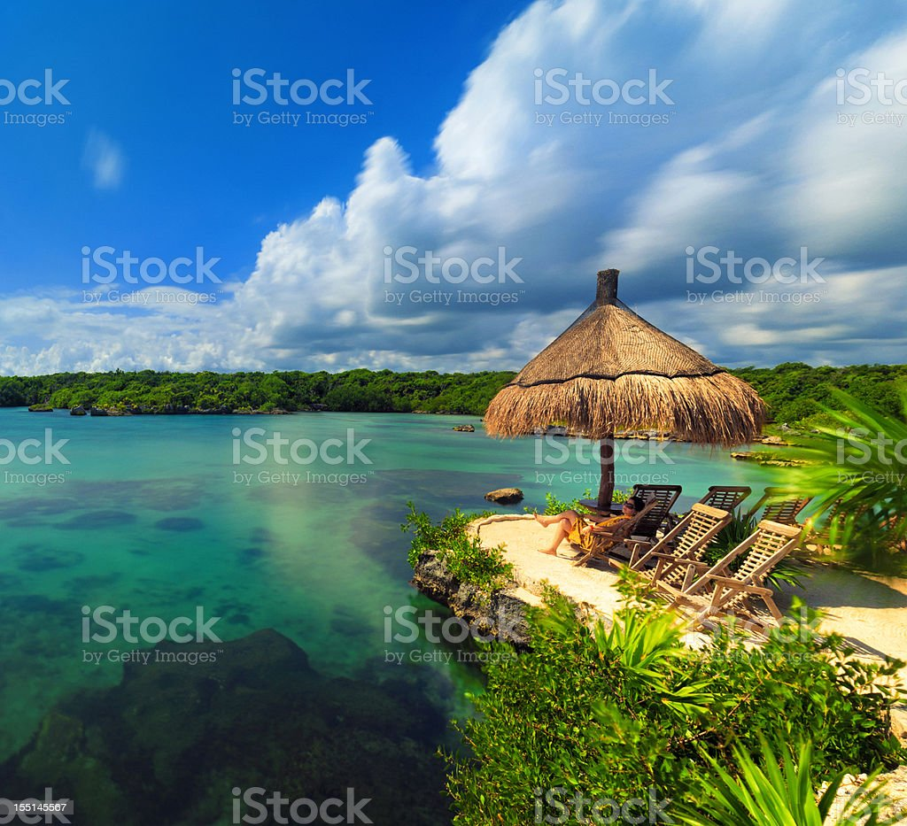lagoon in mexico stock photo