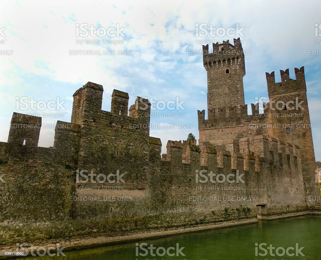 Sirmione, Italy - September 20, 2014: Lagoon in the Scaliger stock photo