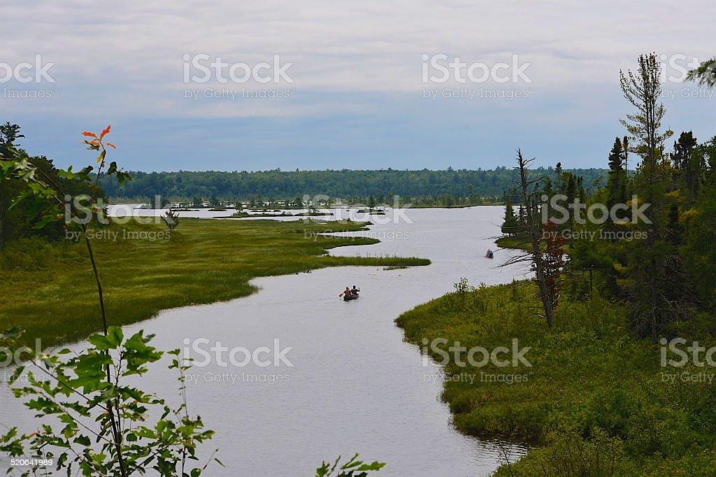 Lagoon - Madeline Island, Wisconsin stock photo