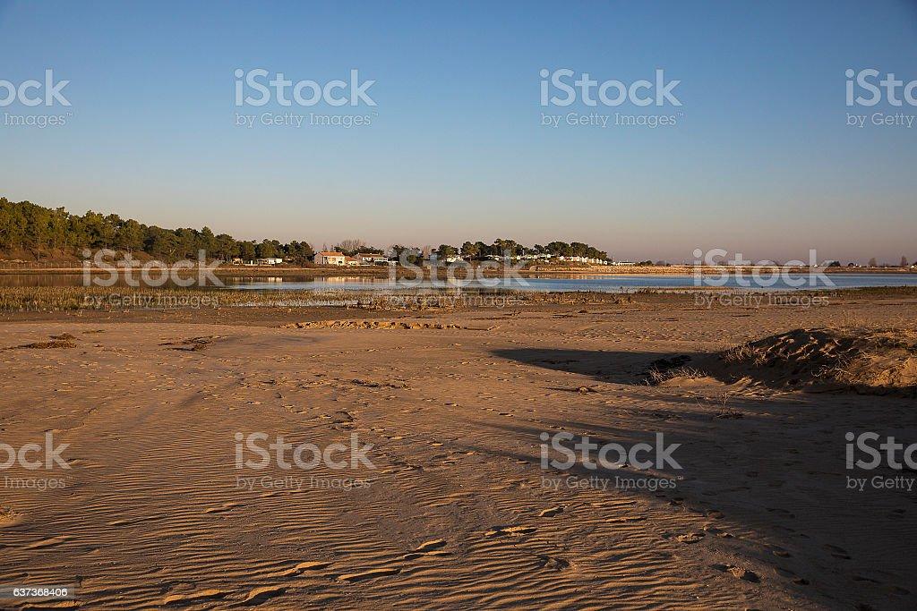 lagoon, nature reserve Casse de la Belle Henriette, Vendee France stock photo