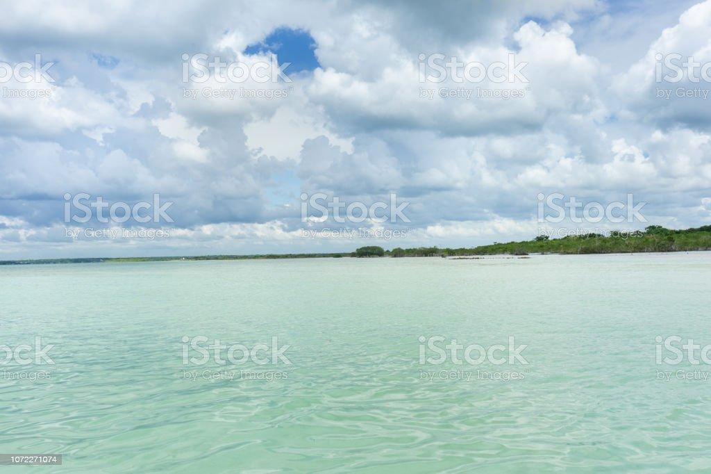 Laguna de Bacalar - foto de stock