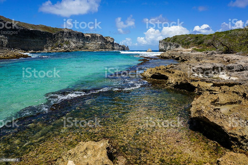 Lagon de la Porte d'Enfer in Guadeloupe stock photo