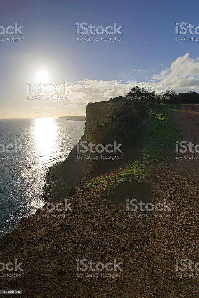 Lagos Cliffs at sunset royalty-free stock photo