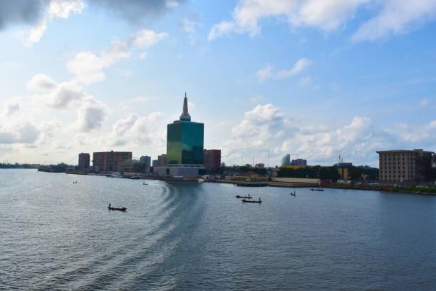 Lagos Nigeria skyline stock photo