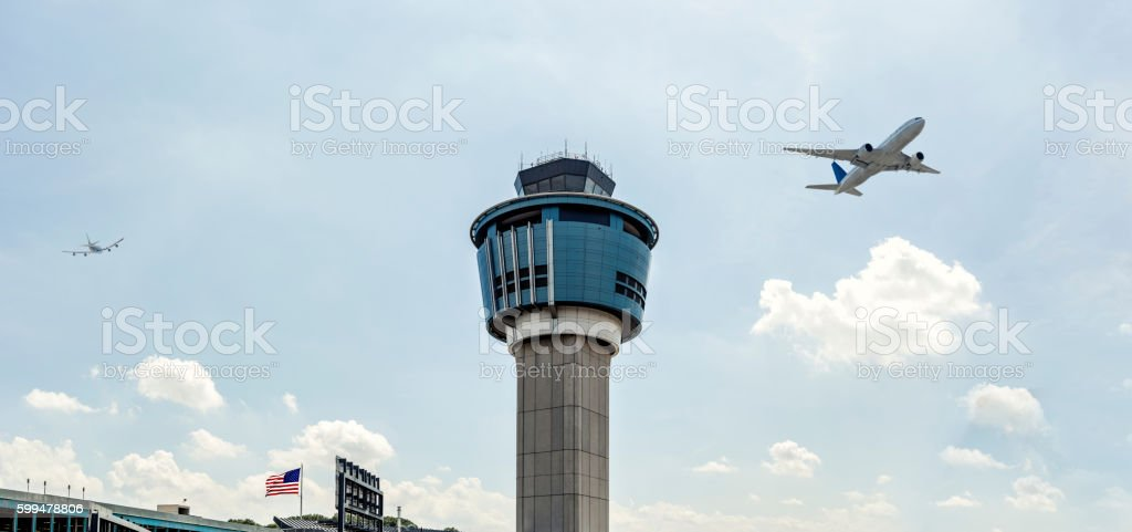 Laguardia Airport Tower New York stock photo