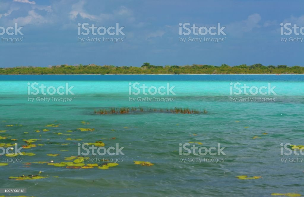 Laguna Bacalar - foto de stock