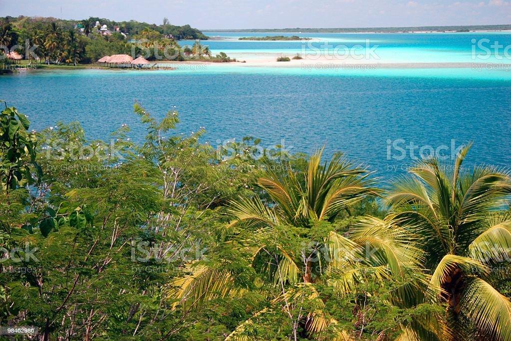 Laguna Bacalar royalty-free stock photo