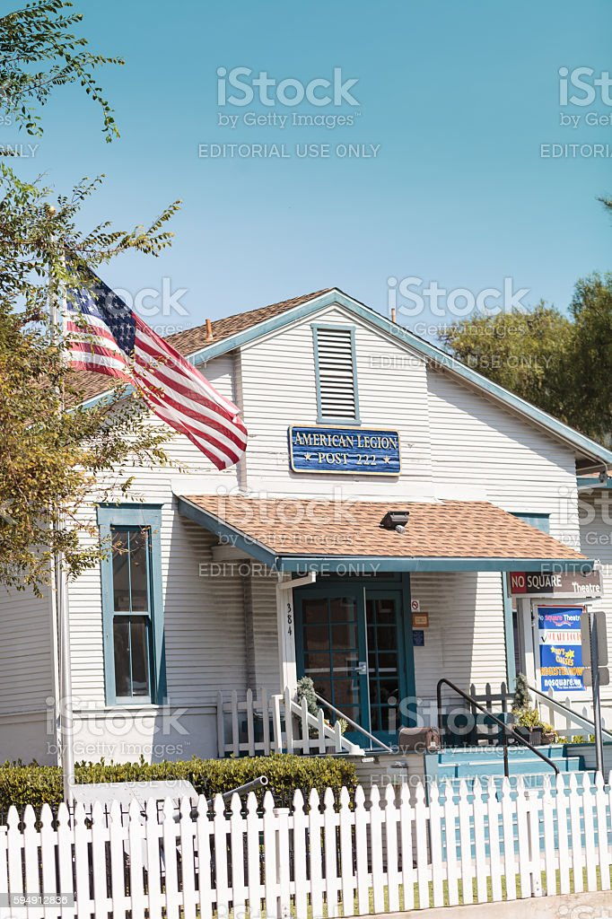 Laguna Beach American Legion building, Post 222 stock photo