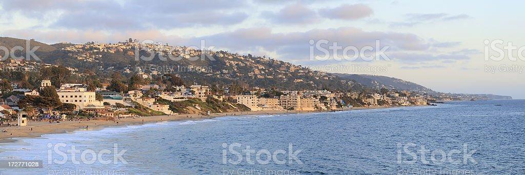 Laguna Beach at sunset royalty-free stock photo