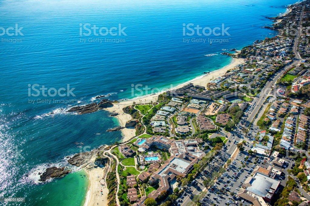 Laguna Beach Coastal Aerial stock photo