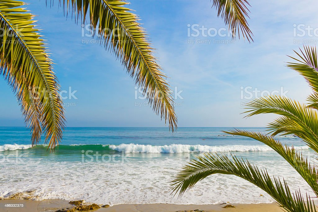 Laguna Beach coastline, CA (P) stock photo