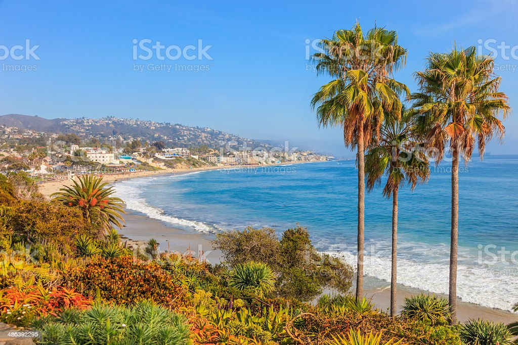 Laguna Beach coastline, CA stock photo